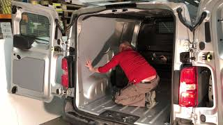 How to install van interior -  KORE lining and floor installation in a Peugeot Expert L2H1
