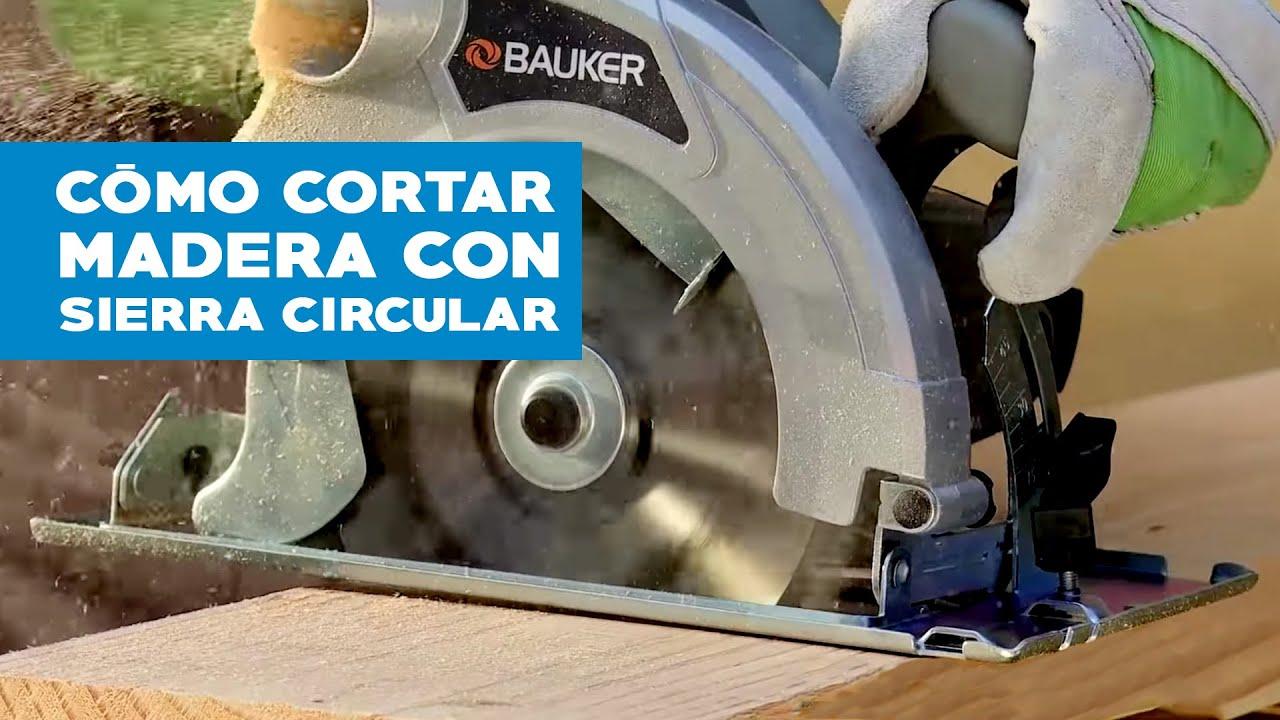 C mo cortar madera con sierra circular viyoutube for Cortar madera con radial
