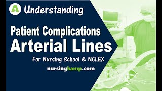 What are Arterial Lines A Lines ICU Dicrotic Notch dampening Allens Test Nursing  NCLEX review 2019