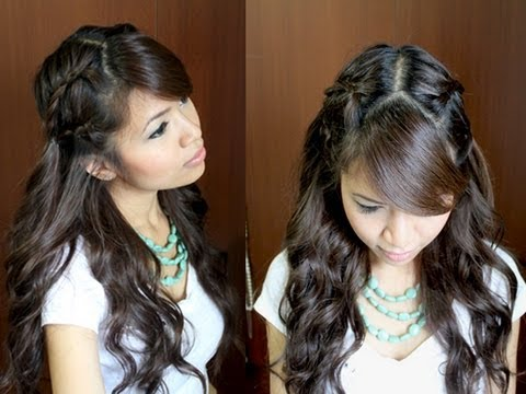 bohemian lace braid hairstyle curly