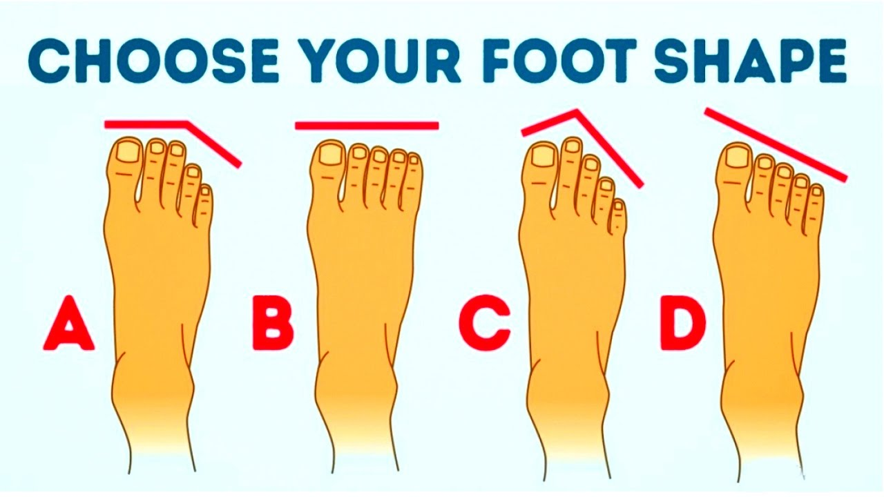 yourpersonality footshape humanbody [ 1280 x 720 Pixel ]