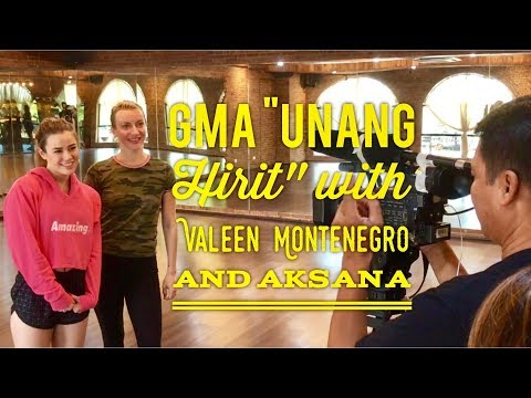 GMA 7 Unang Hirit Behind the scenes with Valeen Montenegro and Aksana Kalinich