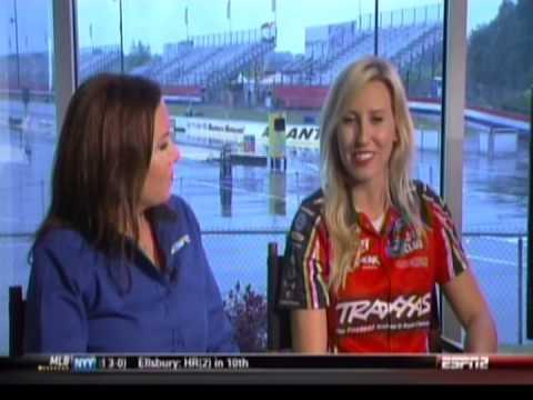 Courtney Force Alexis DeJoria Erica Enders Atlanta Interview 2014