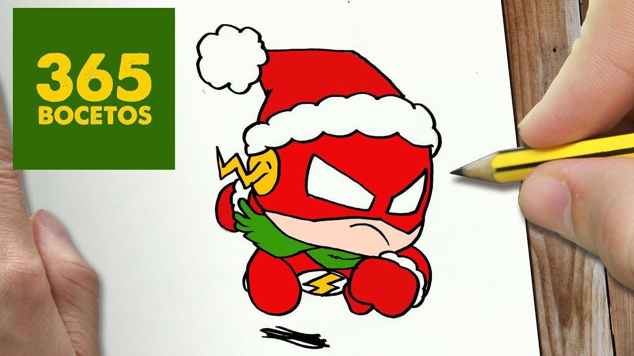 Como dibujar flash para navidad paso a paso dibujos for Dibujos sencillos de navidad