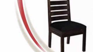 Liam Wood Dining Chairs W/ Microfiber Seats (set Of 2)