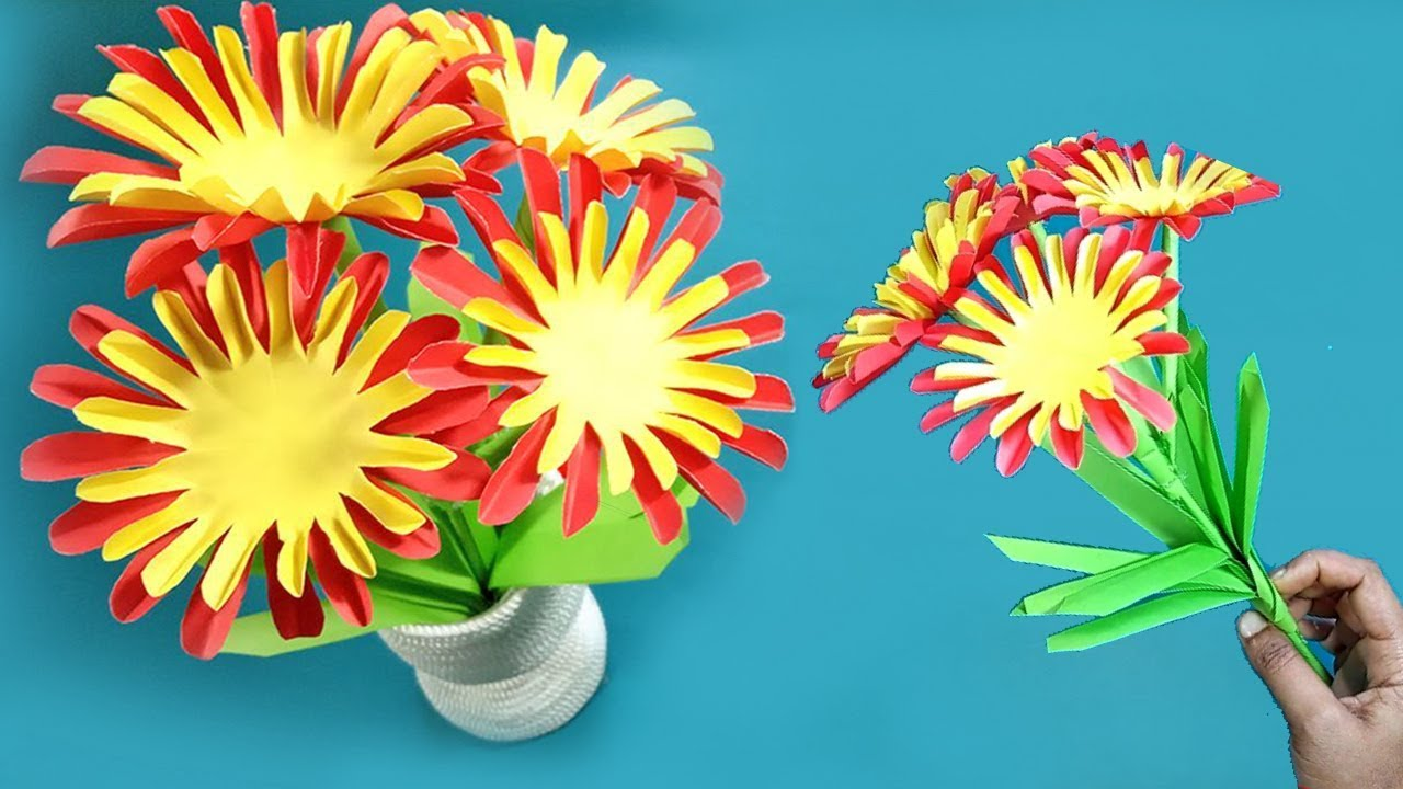 How To Make Flower With Paper Step By Step Paper Flowers Making Diy Paper Flowers
