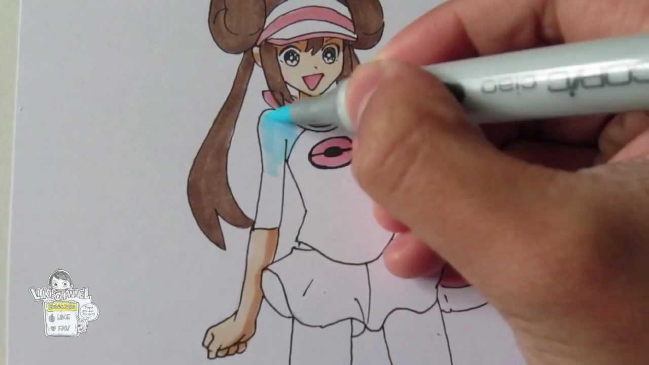 How To Draw Pokemon Black  White 2 Heroine Girl  - Youtube-7909