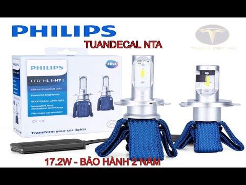Đèn pha LED Philips Ultinon Essential GEN 1. 17w.H4 TUẤN DECAL NTA