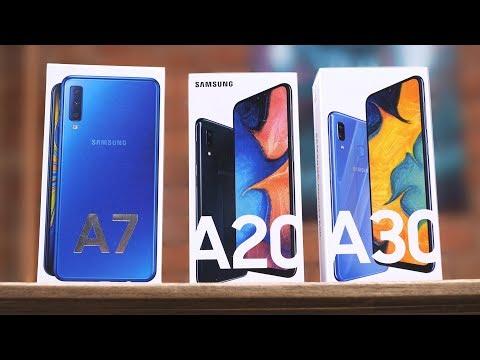 Samsung Galaxy A30, A20 или A7 2018: что купить? Обзор-сравнение самсунгов за 15 000 рублей