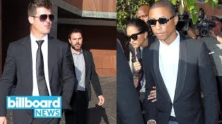 Robin Thicke & Pharrell Williams to Pay $5M in 'Blurred Lines' Lawsuit | Billboard News Video