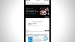 BlackBerry İş Docs Öğretici (iOS)