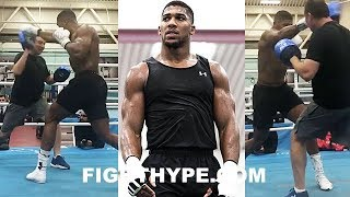 (WHOA!) ANTHONY JOSHUA DROPPIN BOMBS ON THE MITTS; TRAINING TO WRECK CARLOS TAKAM