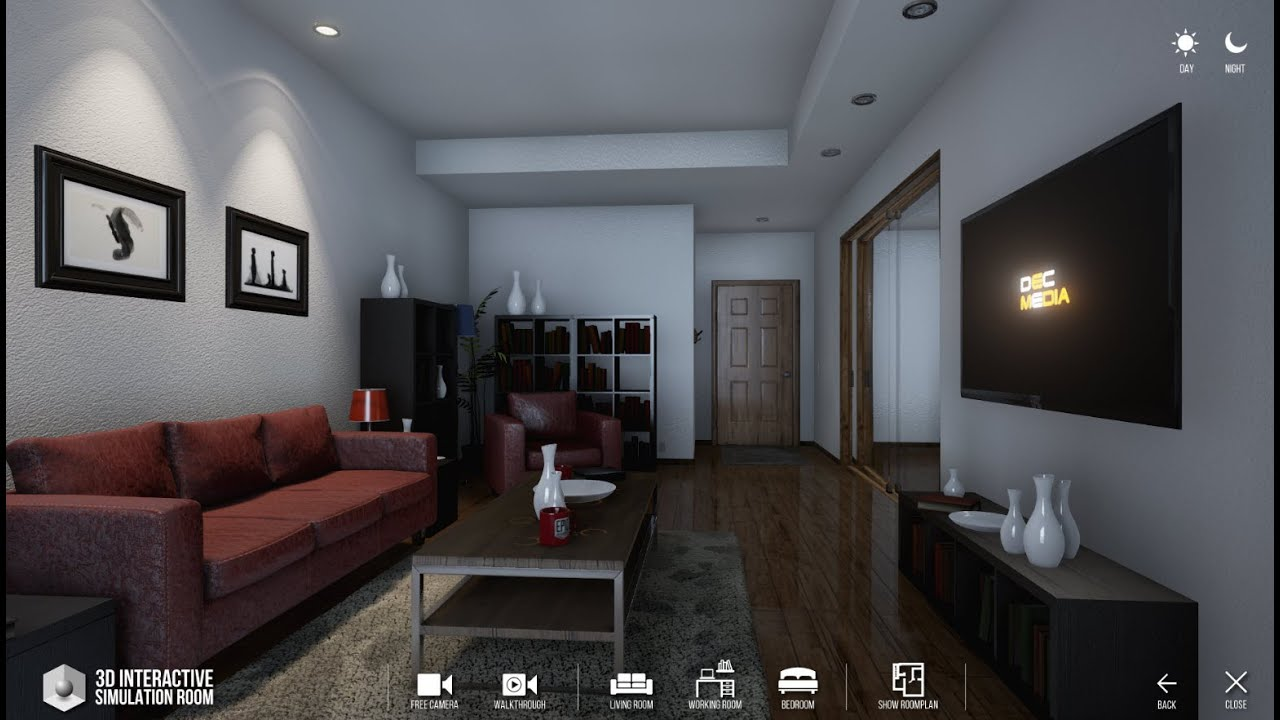 Interior Design Simulator บริษัท dec media - 3d simulator interior - interactive condo