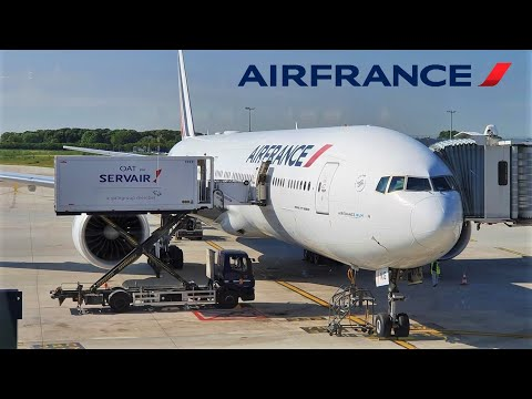 Air France Boeing 777 🇫🇷 Paris CDG - Tahiti PPT Airport 🇵🇫 via Vancouver YVR 🇨🇦 (Arctic route)