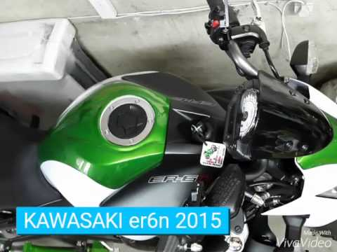 kawasaki er6n 2015 blanca youtube. Black Bedroom Furniture Sets. Home Design Ideas