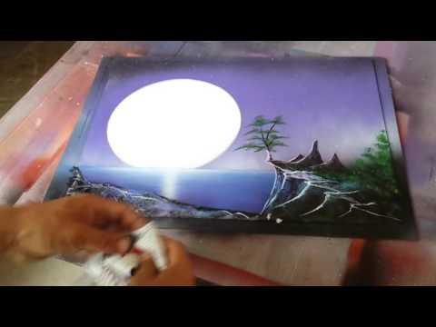 Spray arte 6 como pintar paisajes youtube - Cuadros pintados con spray ...