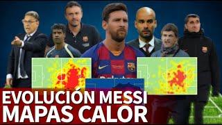 La Evolución De Messi En Mapas De Calor Los Años Con Guardiola Son Descomunales  Diario As