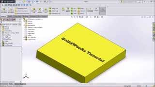 Solidworks tutorial How to engrave Text