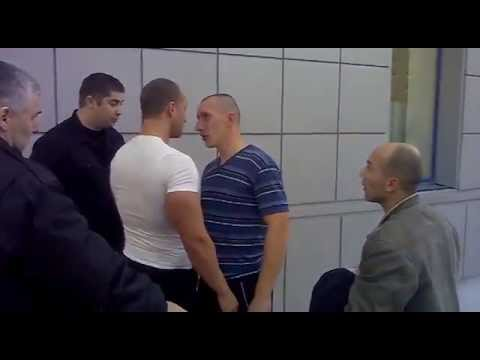 Russian fight over a broken bottle of vodka
