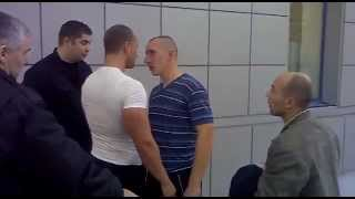 Russian fight over a broken bottle of vodka(Two men wanted to buy a bottle of vodka in Kaliningrad, Russia. They've accidently dropped the bottle, took a new one and just paid for the one bottle they ..., 2012-01-02T13:25:19.000Z)