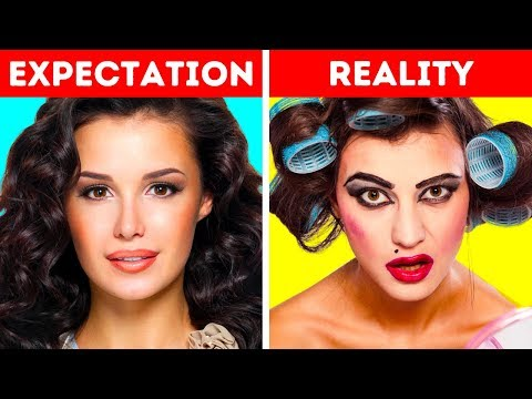 MAKEUP FAILS || 15 DIY BEAUTY HACKS AND FAILS EVERY GIRLS SHOULD KNOW thumbnail