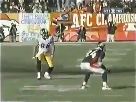 Hines Ward vs Champ Bailey (2005 AFC Championship) | WR vs CB Highlights