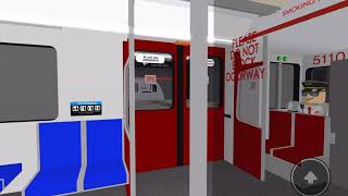 Roblox | TTC Line 4 Sheppard Line | T1 Train 5110 | From Leslie Station To Bayview Station