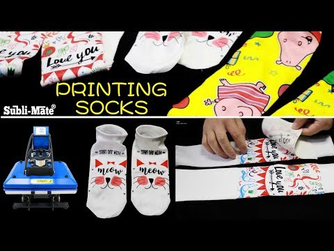 Subli-Mate® heat press printing socks operation video