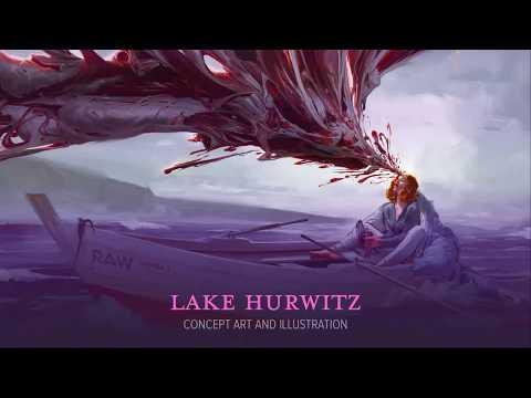 Art Process of Lake Hurwitz