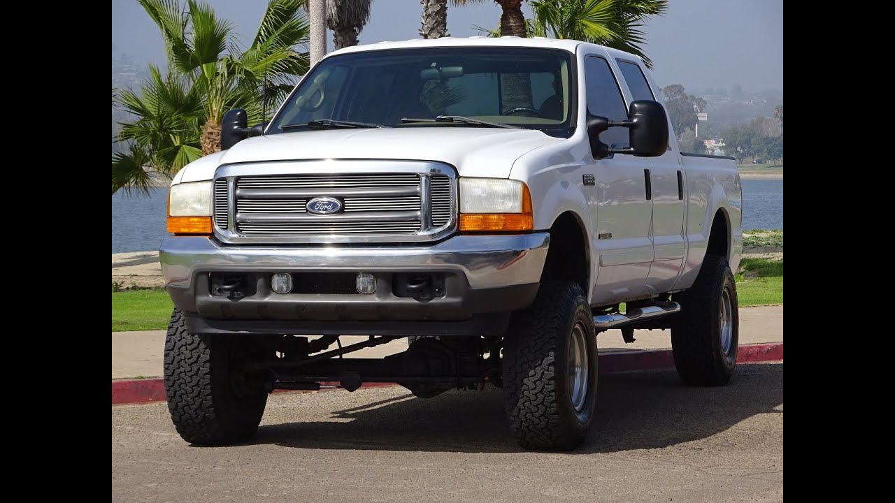 2001 ford f250 7 3l diesel crew cab 4x4 129k miles runs and drives great for sale youtube. Black Bedroom Furniture Sets. Home Design Ideas