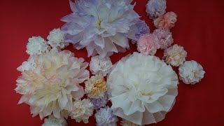 簡単・豪華・安価なペーパーナプキンフラワー / DIY Kawaii Paper Napkin Flower