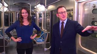 Person of Interest: Amy Acker and Michael Emerson Tour the Subway Set