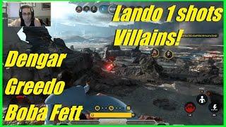 star wars battlefront post patch lando 1 shots villains   dengar greedo boba fett