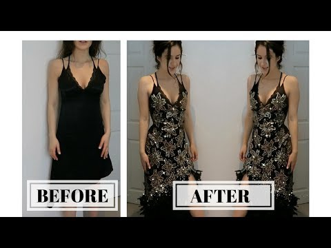 DIY PROM DRESS MAKEOVER FOR THE THRIFT STORE! *for cheap!*