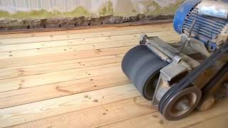 видео Паркетно-шлифовальная (циклевочная) машина СО-206 (220 В)