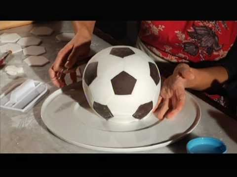 How To Make A Soccer Ball Cake With Fondant