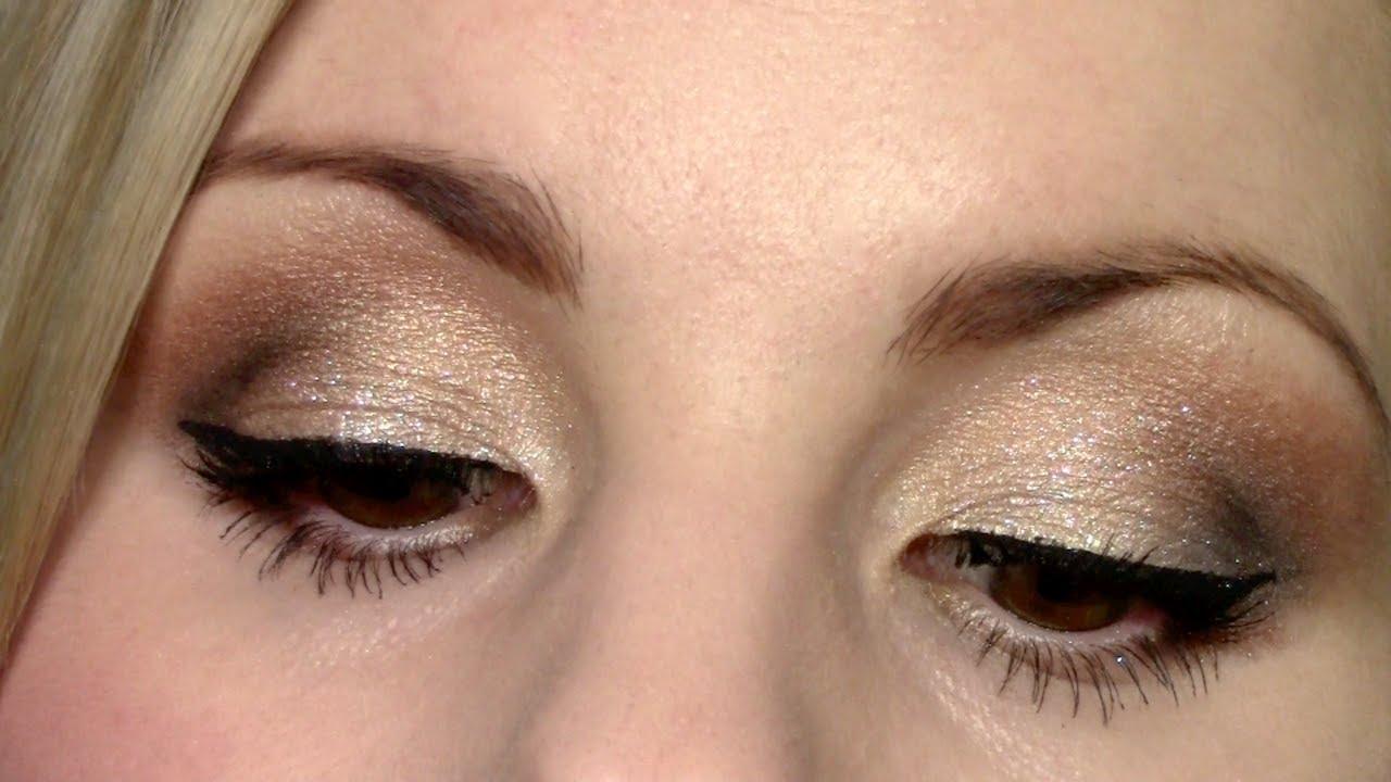 eyeshadow tutorial glittery gold wet n wild comfort zone