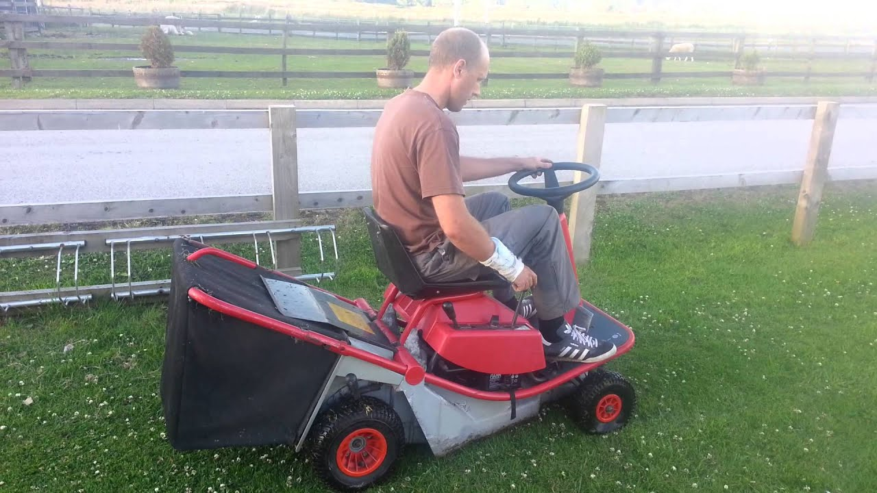 alko 700 ride on lawn mower youtube