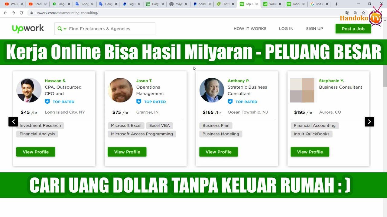 Kerja Online Bisa Hasil Milyaran Tanpa Ijazah - Peluang ...