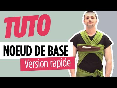Comment nouer l'écharpe de portage  - Nœud de Base JPMBB (vidéo version rapide)