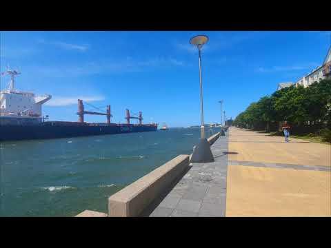 Waterfront promenade walk 4K ¤ Newcastle