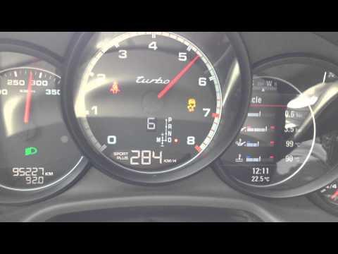 WN  porsche panamera turbo 317 km h on kosovo highway