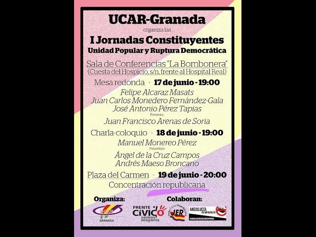 Debate entre Felipe Alcaraz, Juan Carlos Monedero y Pérez Tapias (Granada, 17/06/2015)