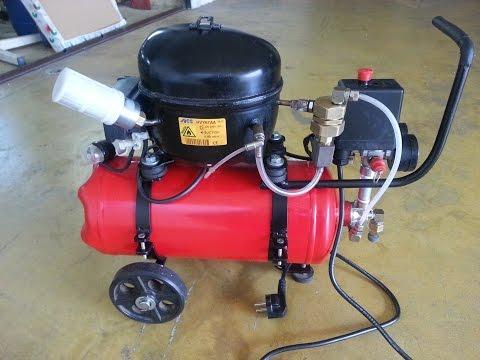 DIY - Small Silent Air Compressor  (Mini Compressore Silenzioso)