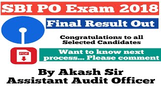 SBI PO 2018 | Final Result Out | In Hindi