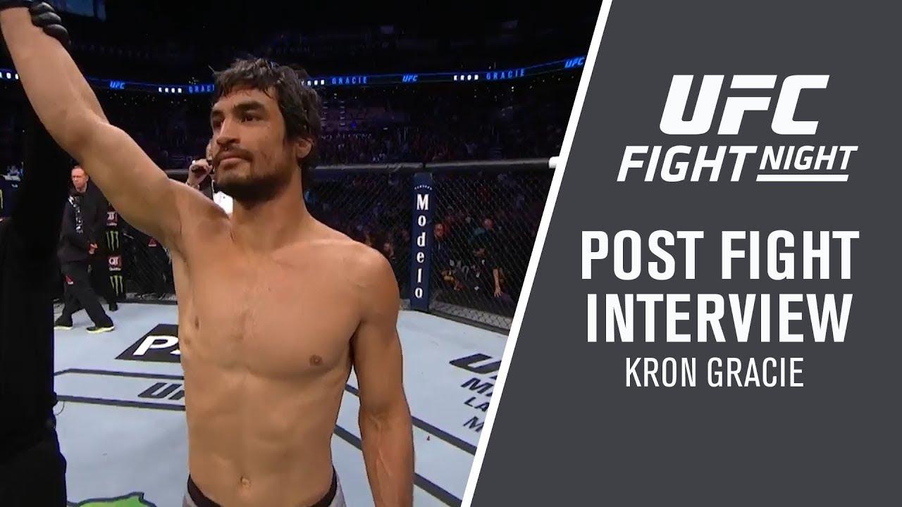 """UFC Phoenix: Kron Gracie - """"I'm Not Surprised"""""""