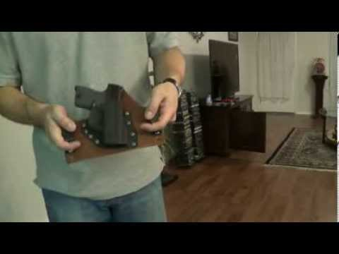 IWB Gun Holster Demo Warthog Gear CCW Glock 27 Kahr PM9 M&P Shield