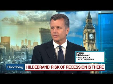 Risk of a Recession in 2020 Is More Elevated, Says BlackRock's Hildebrand