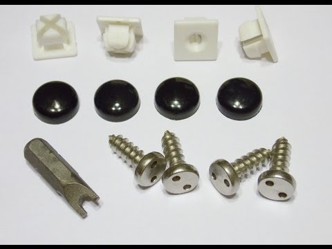 ANTI-THEFT LICENSE PLATE SECURITY SCREWS-STAINLESS