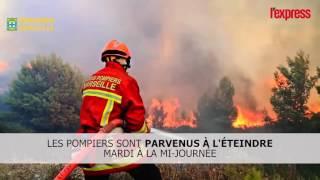 Incendie dans les calanques: les images impressionnantes des pompiers
